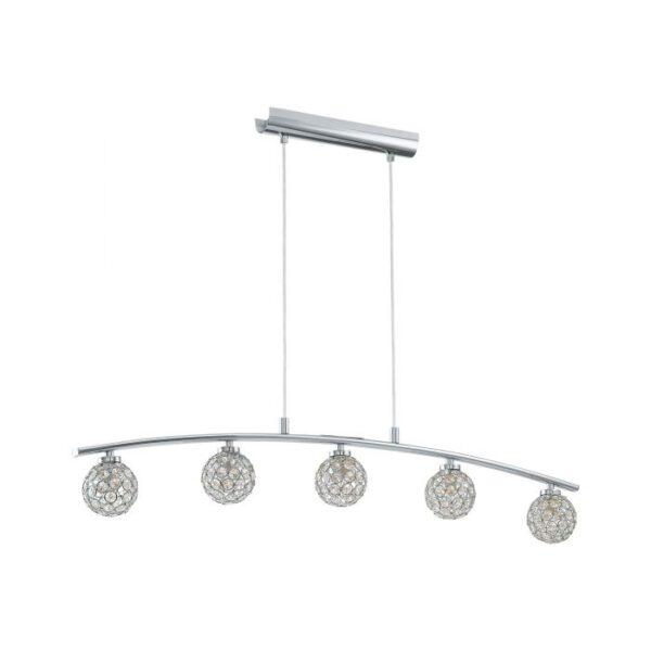 Beramo 1 hanglamp uit de hanglampen collectie van Eglo, verlichting voor een sfeervol thuis! Schitterende lamp vervaardigd uit metaal, chroom van kleur en passend bij vele interieurstijlen. De hanglamp is voorzien van een G9-ECO fitting. Hanglamp Beramo 1 wordt geleverd inclusief lichtbron(nen).