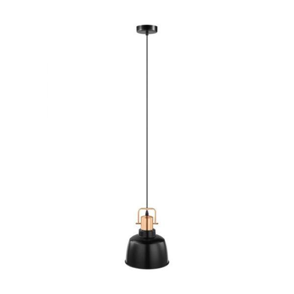 Bodmin hanglamp uit de hanglampen collectie van Eglo, verlichting voor een sfeervol thuis! Schitterende lamp vervaardigd uit metaal, zwart, koper van kleur en passend bij vele interieurstijlen. De hanglamp is voorzien van een E27 fitting. Hanglamp Bodmin wordt geleverd exclusief lichtbron(nen).