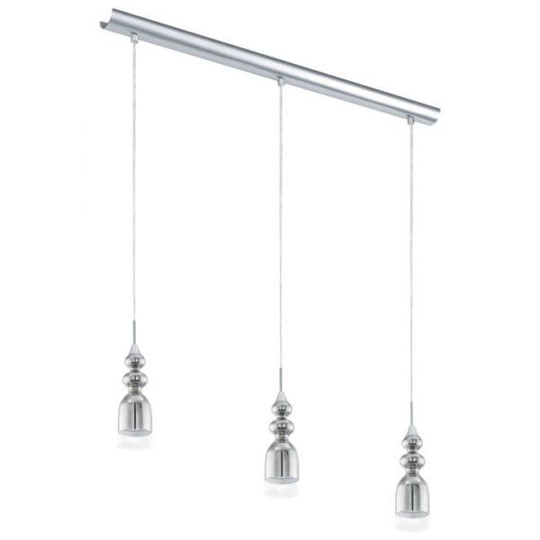Bolanos hanglamp uit de hanglampen collectie van Eglo, verlichting voor een sfeervol thuis! Schitterende lamp vervaardigd uit metaal, chroom van kleur en passend bij vele interieurstijlen. De hanglamp is voorzien van een GU10-LED fitting. Hanglamp Bolanos wordt geleverd inclusief lichtbron(nen).