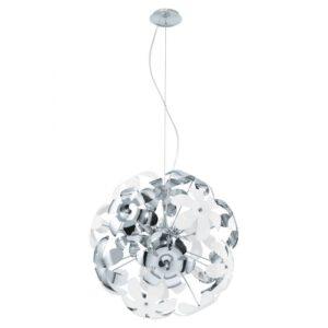 Camile hanglamp uit de hanglampen collectie van Eglo, verlichting voor een sfeervol thuis! Schitterende lamp vervaardigd uit metaal, chroom, wit van kleur en passend bij vele interieurstijlen. De hanglamp is voorzien van een E14 fitting. Hanglamp Camile wordt geleverd exclusief lichtbron(nen).