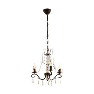 Chattisham hanglamp uit de hanglampen collectie van Eglo, verlichting voor een sfeervol thuis! Schitterende lamp vervaardigd uit metaal, bruin, wit van kleur en passend bij vele interieurstijlen. De hanglamp is voorzien van een E14 fitting. Hanglamp Chattisham wordt geleverd exclusief lichtbron(nen).