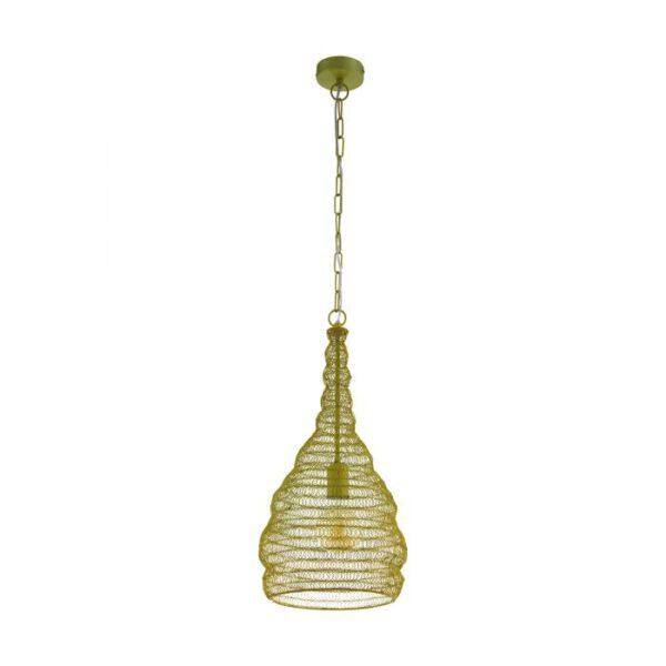 Colten hanglamp uit de hanglampen collectie van Eglo, verlichting voor een sfeervol thuis! Schitterende lamp vervaardigd uit metaal, goudkleuren van kleur en passend bij vele interieurstijlen. De hanglamp is voorzien van een E27 fitting. Hanglamp Colten wordt geleverd exclusief lichtbron(nen).