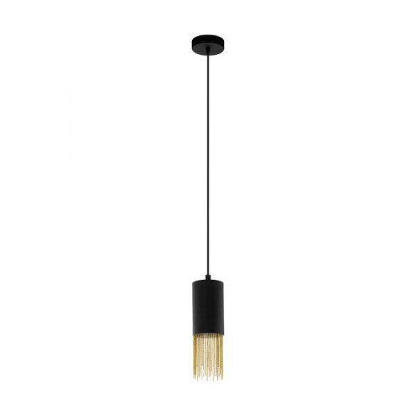 Counuzulus hanglamp uit de hanglampen collectie van Eglo, verlichting voor een sfeervol thuis! Schitterende lamp vervaardigd uit metaal, zwart, geelkoper van kleur en passend bij vele interieurstijlen. De hanglamp is voorzien van een E27 fitting. Hanglamp Counuzulus wordt geleverd exclusief lichtbron(nen).