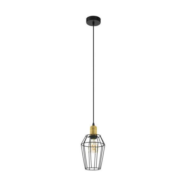 Denham hanglamp uit de hanglampen collectie van Eglo, verlichting voor een sfeervol thuis! Schitterende lamp vervaardigd uit metaal, gebronsd, zwart van kleur en passend bij vele interieurstijlen. De hanglamp is voorzien van een E27 fitting. Hanglamp Denham wordt geleverd exclusief lichtbron(nen).