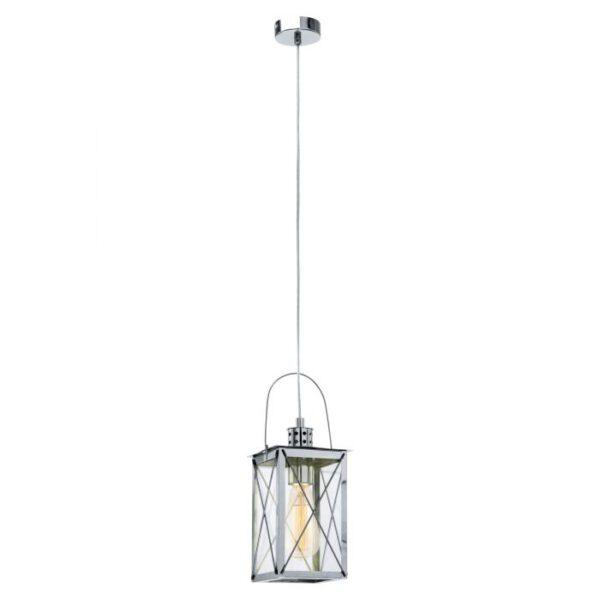 Donmington hanglamp uit de hanglampen collectie van Eglo, verlichting voor een sfeervol thuis! Schitterende lamp vervaardigd uit metaal, chroom van kleur en passend bij vele interieurstijlen. De hanglamp is voorzien van een E27 fitting. Hanglamp Donmington wordt geleverd exclusief lichtbron(nen).