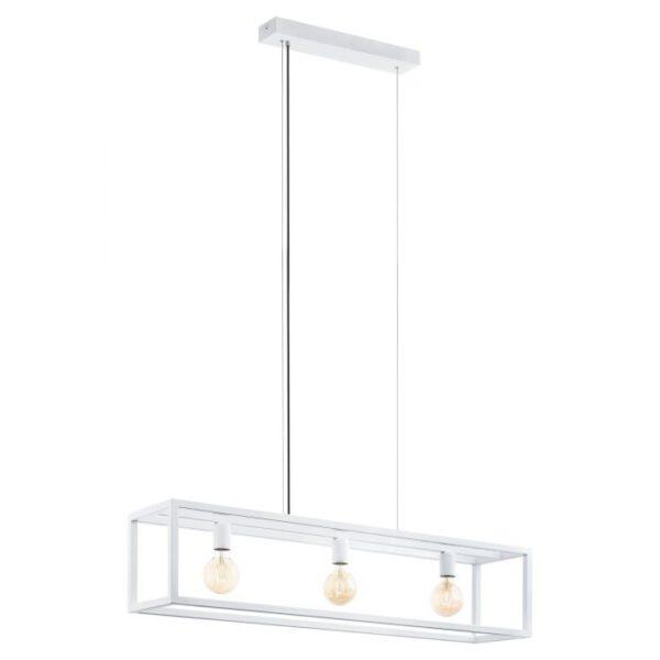 Elswick hanglamp uit de hanglampen collectie van Eglo, verlichting voor een sfeervol thuis! Schitterende lamp vervaardigd uit metaal, wit van kleur en passend bij vele interieurstijlen. De hanglamp is voorzien van een E27 fitting. Hanglamp Elswick wordt geleverd exclusief lichtbron(nen).