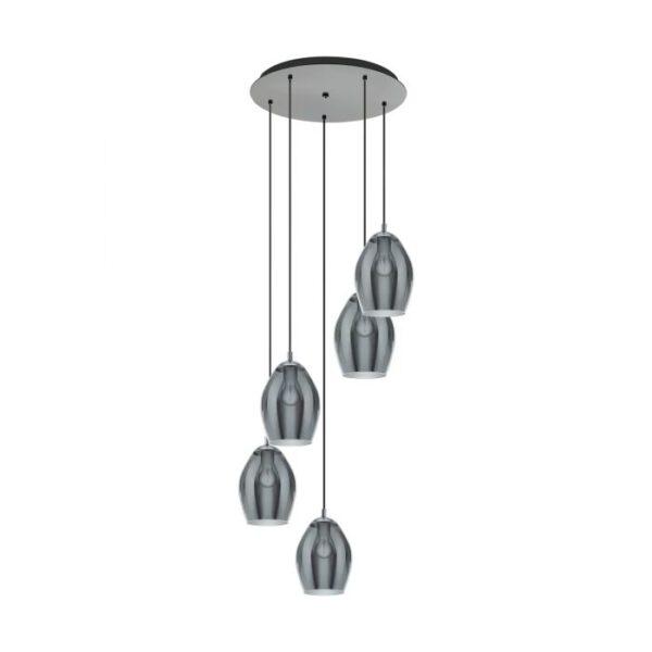 Estanys hanglamp uit de hanglampen collectie van Eglo, verlichting voor een sfeervol thuis! Schitterende lamp vervaardigd uit metaal, nikkel-nero van kleur en passend bij vele interieurstijlen. De hanglamp is voorzien van een E27 fitting. Hanglamp Estanys wordt geleverd exclusief lichtbron(nen).