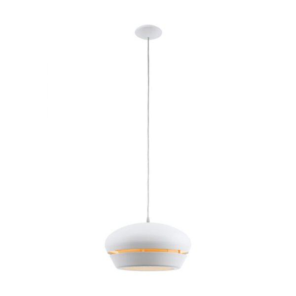 Fosalba hanglamp uit de hanglampen collectie van Eglo, verlichting voor een sfeervol thuis! Schitterende lamp vervaardigd uit metaal, wit van kleur en passend bij vele interieurstijlen. De hanglamp is voorzien van een E27 fitting. Hanglamp Fosalba wordt geleverd exclusief lichtbron(nen).