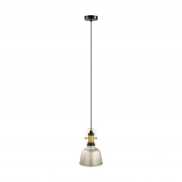 Gilwell hanglamp uit de hanglampen collectie van Eglo, verlichting voor een sfeervol thuis! Schitterende lamp vervaardigd uit metaal, champagne, gebronsd, zwart van kleur en passend bij vele interieurstijlen. De hanglamp is voorzien van een E27 fitting. Hanglamp Gilwell wordt geleverd exclusief lichtbron(nen).