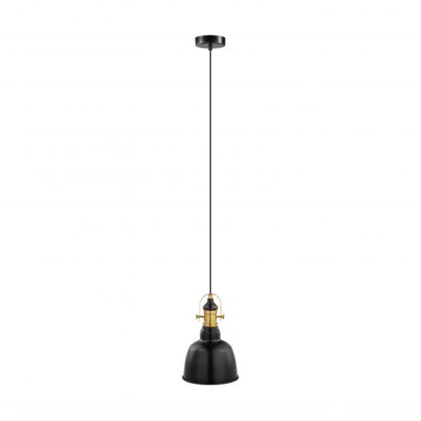 Gilwell hanglamp uit de hanglampen collectie van Eglo, verlichting voor een sfeervol thuis! Schitterende lamp vervaardigd uit metaal, zwart, gebronsd van kleur en passend bij vele interieurstijlen. De hanglamp is voorzien van een E27 fitting. Hanglamp Gilwell wordt geleverd exclusief lichtbron(nen).