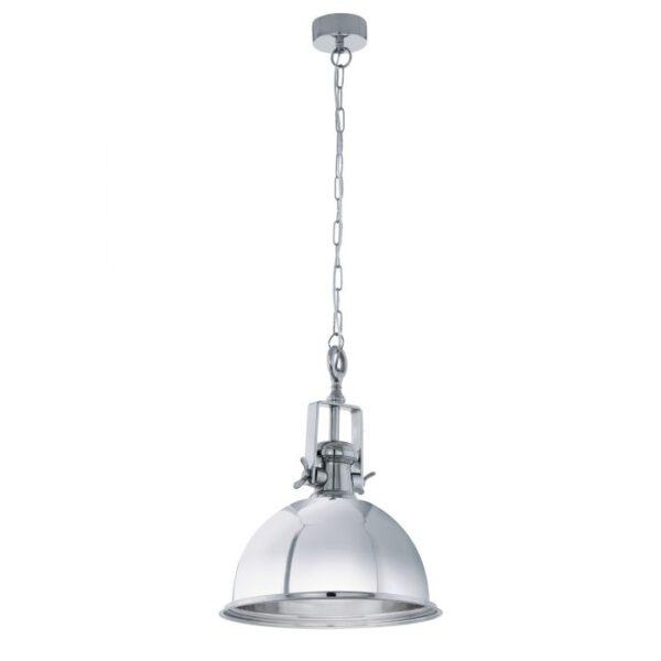 Grantham hanglamp uit de hanglampen collectie van Eglo, verlichting voor een sfeervol thuis! Schitterende lamp vervaardigd uit metaal, chroom van kleur en passend bij vele interieurstijlen. De hanglamp is voorzien van een E27 fitting. Hanglamp Grantham wordt geleverd exclusief lichtbron(nen).