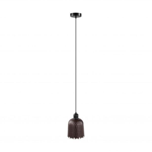 Iskal hanglamp uit de hanglampen collectie van Eglo, verlichting voor een sfeervol thuis! Schitterende lamp vervaardigd uit metaal, koper-antiek, zwart van kleur en passend bij vele interieurstijlen. De hanglamp is voorzien van een E27 fitting. Hanglamp Iskal wordt geleverd exclusief lichtbron(nen).