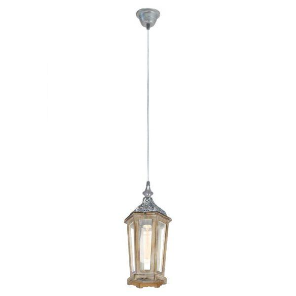 Kinghorn hanglamp uit de hanglampen collectie van Eglo, verlichting voor een sfeervol thuis! Schitterende lamp vervaardigd uit metaal, zilver van kleur en passend bij vele interieurstijlen. De hanglamp is voorzien van een E27 fitting. Hanglamp Kinghorn wordt geleverd exclusief lichtbron(nen).
