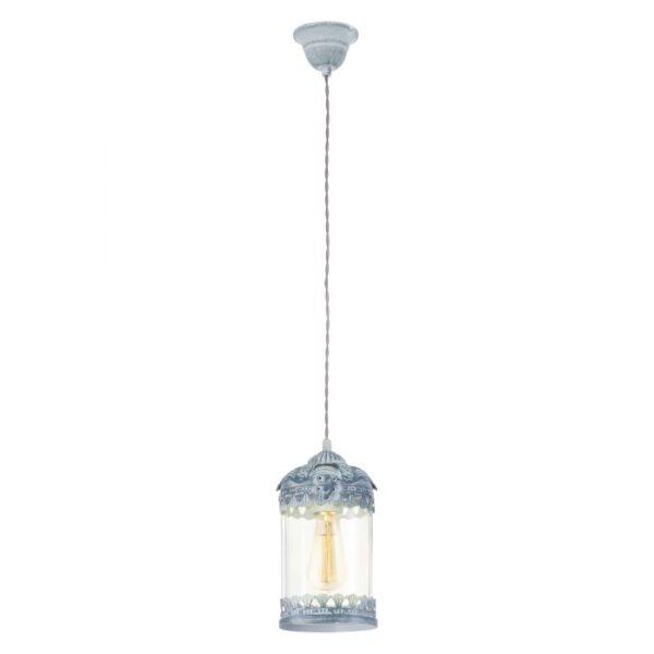 Langham hanglamp uit de hanglampen collectie van Eglo, verlichting voor een sfeervol thuis! Schitterende lamp vervaardigd uit metaal, grijs-blauw van kleur en passend bij vele interieurstijlen. De hanglamp is voorzien van een E27 fitting. Hanglamp Langham wordt geleverd exclusief lichtbron(nen).