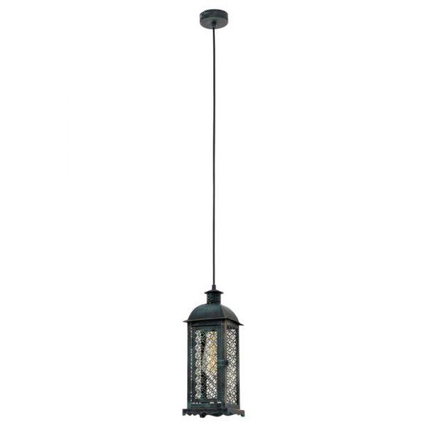 Lisburn 1 hanglamp uit de hanglampen collectie van Eglo, verlichting voor een sfeervol thuis! Schitterende lamp vervaardigd uit metaal, groen-patina van kleur en passend bij vele interieurstijlen. De hanglamp is voorzien van een E27 fitting. Hanglamp Lisburn 1 wordt geleverd exclusief lichtbron(nen).