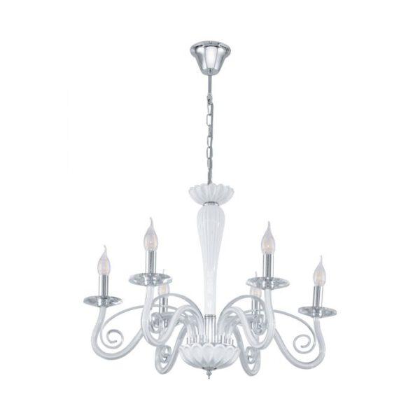 Meduno 1 hanglamp uit de hanglampen collectie van Eglo, verlichting voor een sfeervol thuis! Schitterende lamp vervaardigd uit metaal, chroom van kleur en passend bij vele interieurstijlen. De hanglamp is voorzien van een E14 fitting. Hanglamp Meduno 1 wordt geleverd exclusief lichtbron(nen).