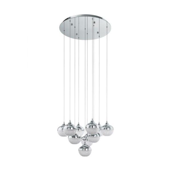 Mioglia hanglamp uit de hanglampen collectie van Eglo, verlichting voor een sfeervol thuis! Schitterende lamp vervaardigd uit metaal, chroom van kleur en passend bij vele interieurstijlen. De hanglamp is voorzien van een LED fitting. Hanglamp Mioglia wordt geleverd inclusief lichtbron(nen).