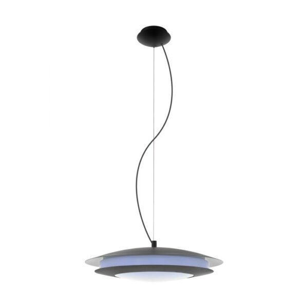 Moneva-C hanglamp uit de hanglampen collectie van Eglo, verlichting voor een sfeervol thuis! Schitterende lamp vervaardigd uit metaal, zwart van kleur en passend bij vele interieurstijlen. De hanglamp is voorzien van een LED fitting. Hanglamp Moneva-C wordt geleverd inclusief lichtbron(nen).