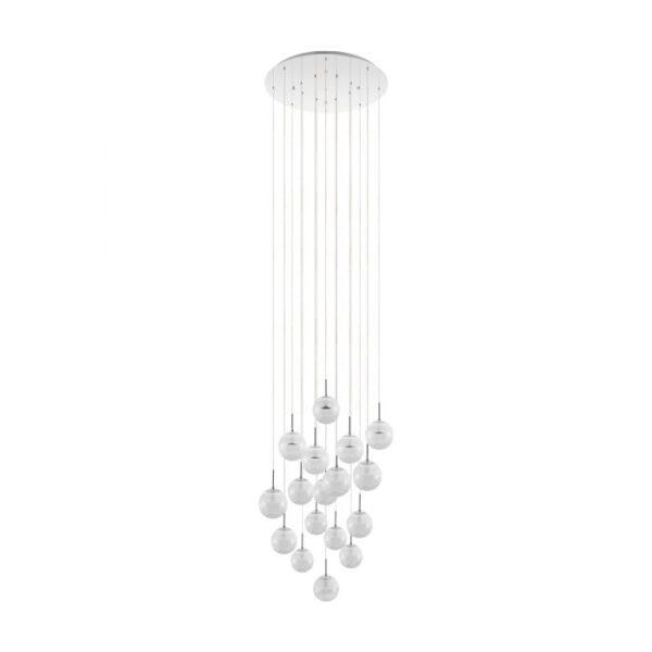 Montefio 2 hanglamp uit de hanglampen collectie van Eglo, verlichting voor een sfeervol thuis! Schitterende lamp vervaardigd uit metaal, chroom van kleur en passend bij vele interieurstijlen. De hanglamp is voorzien van een LED fitting. Hanglamp Montefio 2 wordt geleverd inclusief lichtbron(nen).