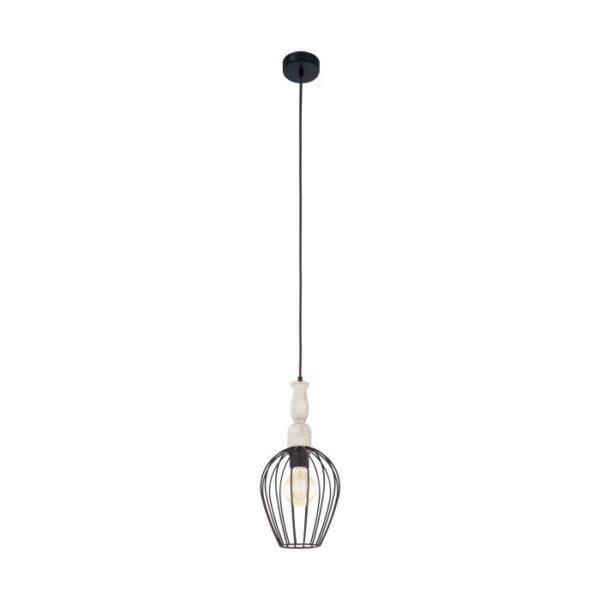 Norham hanglamp uit de hanglampen collectie van Eglo, verlichting voor een sfeervol thuis! Schitterende lamp vervaardigd uit metaal, zwart, bruin van kleur en passend bij vele interieurstijlen. De hanglamp is voorzien van een E27 fitting. Hanglamp Norham wordt geleverd exclusief lichtbron(nen).
