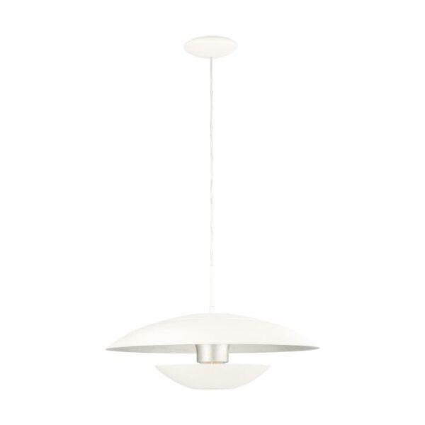 Nuvano hanglamp uit de hanglampen collectie van Eglo, verlichting voor een sfeervol thuis! Schitterende lamp vervaardigd uit metaal, wit, zilver van kleur en passend bij vele interieurstijlen. De hanglamp is voorzien van een E27 fitting. Hanglamp Nuvano wordt geleverd exclusief lichtbron(nen).