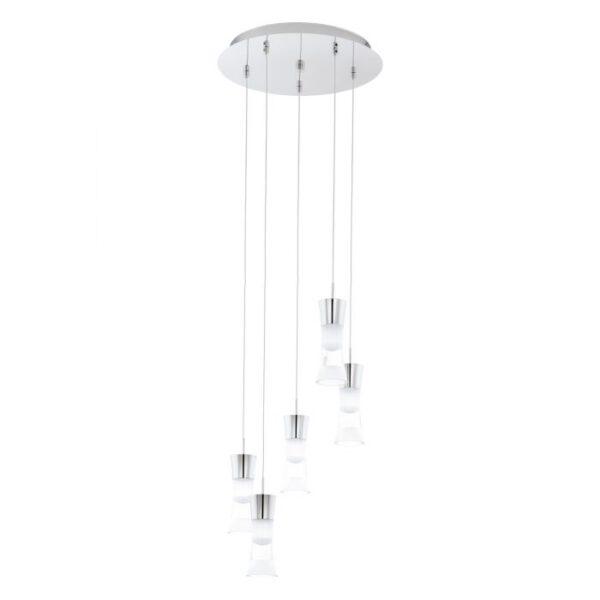 Pancento hanglamp uit de hanglampen collectie van Eglo, verlichting voor een sfeervol thuis! Schitterende lamp vervaardigd uit metaal, chroom van kleur en passend bij vele interieurstijlen. De hanglamp is voorzien van een LED fitting. Hanglamp Pancento wordt geleverd inclusief lichtbron(nen).