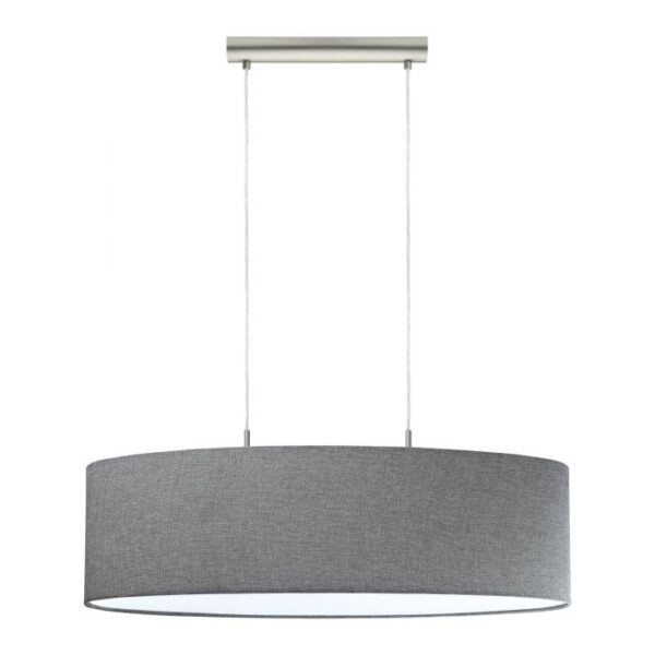 Pasteri hanglamp uit de hanglampen collectie van Eglo, verlichting voor een sfeervol thuis! Schitterende lamp vervaardigd uit metaal, nikkel-mat van kleur en passend bij vele interieurstijlen. De hanglamp is voorzien van een E27 fitting. Hanglamp Pasteri wordt geleverd exclusief lichtbron(nen).