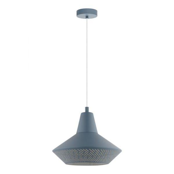 Piondro-P hanglamp uit de hanglampen collectie van Eglo, verlichting voor een sfeervol thuis! Schitterende lamp vervaardigd uit metaal, pastel donkerblauw van kleur en passend bij vele interieurstijlen. De hanglamp is voorzien van een E27 fitting. Hanglamp Piondro-P wordt geleverd exclusief lichtbron(nen).