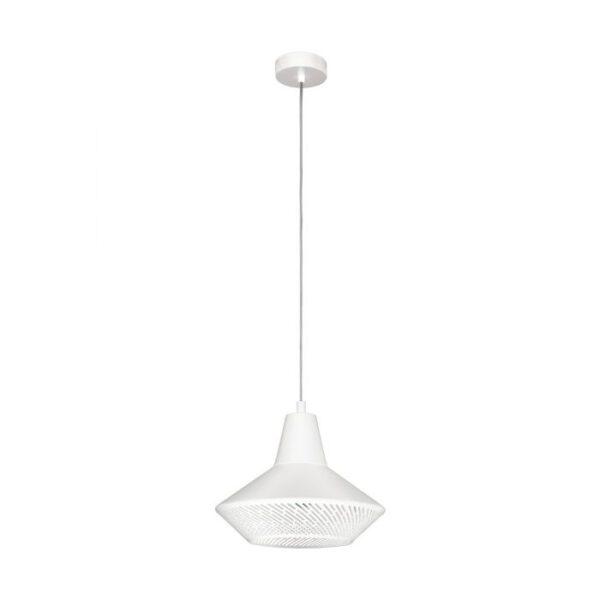 Piondro hanglamp uit de hanglampen collectie van Eglo, verlichting voor een sfeervol thuis! Schitterende lamp vervaardigd uit metaal, wit van kleur en passend bij vele interieurstijlen. De hanglamp is voorzien van een E27 fitting. Hanglamp Piondro wordt geleverd exclusief lichtbron(nen).
