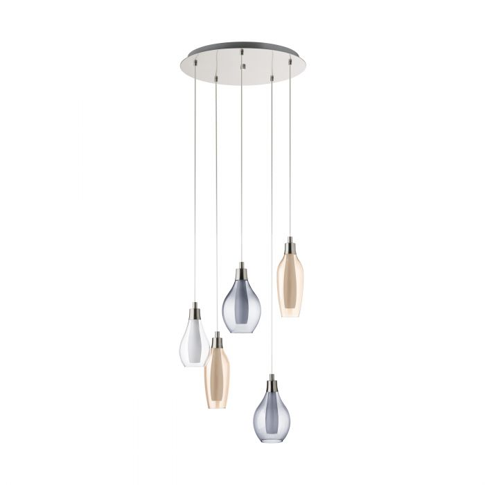 Pontevedra hanglamp - nikkel-mat