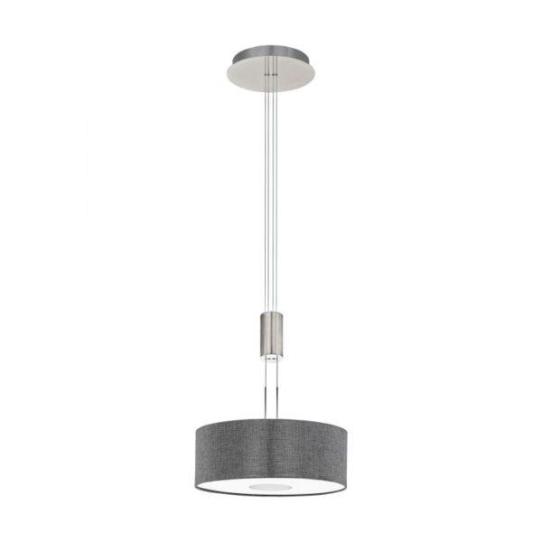 Romao hanglamp uit de hanglampen collectie van Eglo, verlichting voor een sfeervol thuis! Schitterende lamp vervaardigd uit metaal, nikkel-mat, chroom van kleur en passend bij vele interieurstijlen. De hanglamp is voorzien van een LED fitting. Hanglamp Romao wordt geleverd inclusief lichtbron(nen).