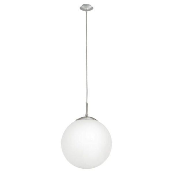 Rondo-C hanglamp uit de hanglampen collectie van Eglo, verlichting voor een sfeervol thuis! Schitterende lamp vervaardigd uit metaal, nikkel-mat van kleur en passend bij vele interieurstijlen. De hanglamp is voorzien van een E27-LED-RGBW-A60 fitting. Hanglamp Rondo-C wordt geleverd inclusief lichtbron(nen).