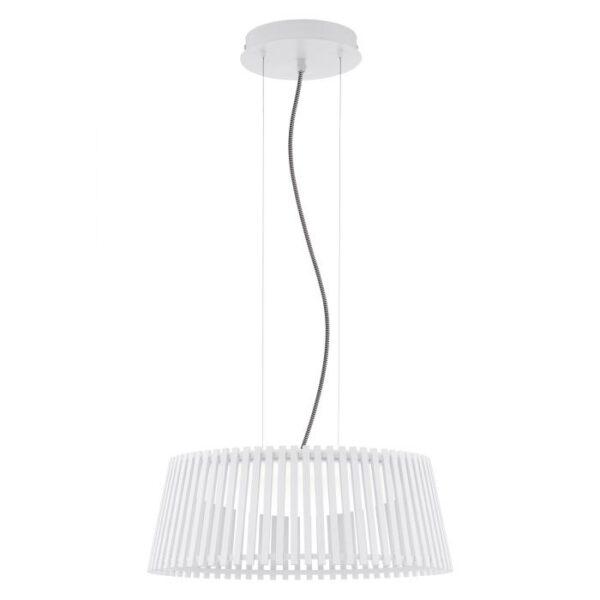 Roverato hanglamp uit de hanglampen collectie van Eglo, verlichting voor een sfeervol thuis! Schitterende lamp vervaardigd uit metaal, wit van kleur en passend bij vele interieurstijlen. De hanglamp is voorzien van een LED fitting. Hanglamp Roverato wordt geleverd inclusief lichtbron(nen).
