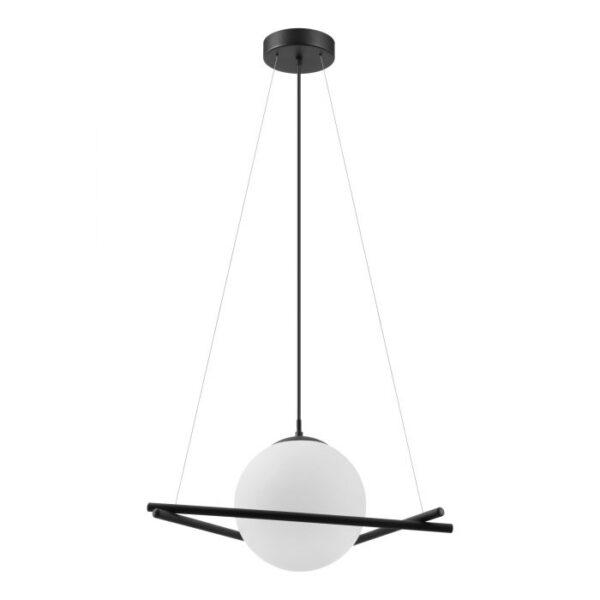 Salvezinas hanglamp uit de hanglampen collectie van Eglo, verlichting voor een sfeervol thuis! Schitterende lamp vervaardigd uit metaal, zwart van kleur en passend bij vele interieurstijlen. De hanglamp is voorzien van een E27 fitting. Hanglamp Salvezinas wordt geleverd exclusief lichtbron(nen).