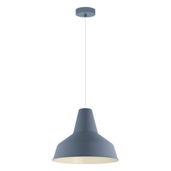 Somerton-P hanglamp uit de hanglampen collectie van Eglo, verlichting voor een sfeervol thuis! Schitterende lamp vervaardigd uit metaal, pastel donkerblauw van kleur en passend bij vele interieurstijlen. De hanglamp is voorzien van een E27 fitting. Hanglamp Somerton-P wordt geleverd exclusief lichtbron(nen).