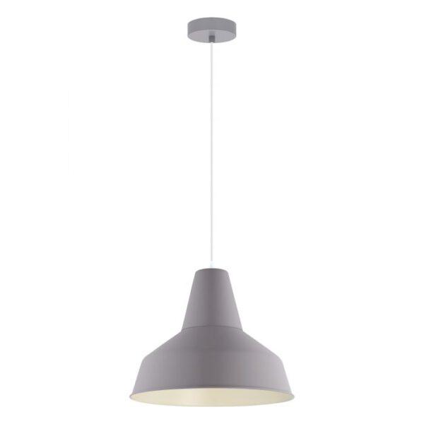 Somerton-P hanglamp uit de hanglampen collectie van Eglo, verlichting voor een sfeervol thuis! Schitterende lamp vervaardigd uit metaal, pastel grijs van kleur en passend bij vele interieurstijlen. De hanglamp is voorzien van een E27 fitting. Hanglamp Somerton-P wordt geleverd exclusief lichtbron(nen).