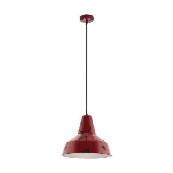 Somerton hanglamp uit de hanglampen collectie van Eglo, verlichting voor een sfeervol thuis! Schitterende lamp vervaardigd uit metaal, rood van kleur en passend bij vele interieurstijlen. De hanglamp is voorzien van een E27 fitting. Hanglamp Somerton wordt geleverd exclusief lichtbron(nen).