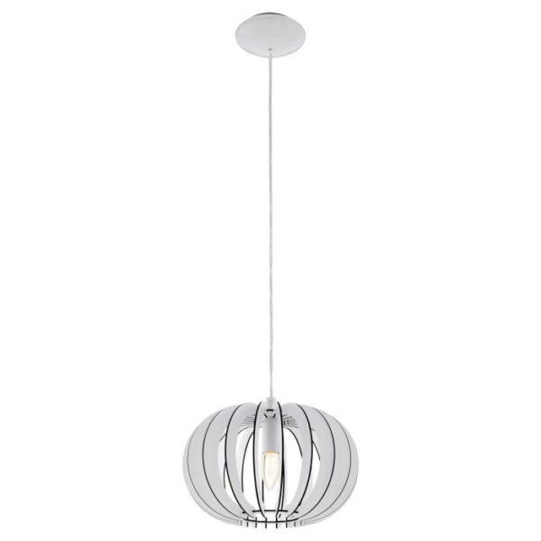 Stellato hanglamp uit de hanglampen collectie van Eglo, verlichting voor een sfeervol thuis! Schitterende lamp vervaardigd uit metaal, wit van kleur en passend bij vele interieurstijlen. De hanglamp is voorzien van een E27 fitting. Hanglamp Stellato wordt geleverd exclusief lichtbron(nen).