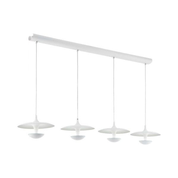 Toronja hanglamp uit de hanglampen collectie van Eglo, verlichting voor een sfeervol thuis! Schitterende lamp vervaardigd uit metaal, wit van kleur en passend bij vele interieurstijlen. De hanglamp is voorzien van een LED fitting. Hanglamp Toronja wordt geleverd inclusief lichtbron(nen).