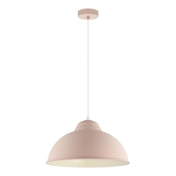 Truro-P hanglamp uit de hanglampen collectie van Eglo, verlichting voor een sfeervol thuis! Schitterende lamp vervaardigd uit metaal, pastel abrikoos van kleur en passend bij vele interieurstijlen. De hanglamp is voorzien van een E27 fitting. Hanglamp Truro-P wordt geleverd exclusief lichtbron(nen).