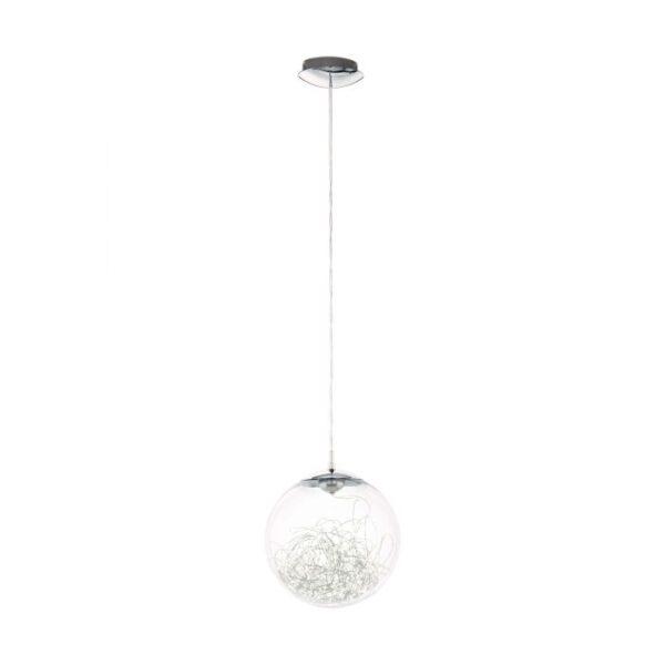 Valenca hanglamp uit de hanglampen collectie van Eglo, verlichting voor een sfeervol thuis! Schitterende lamp vervaardigd uit metaal, chroom van kleur en passend bij vele interieurstijlen. De hanglamp is voorzien van een LED fitting. Hanglamp Valenca wordt geleverd inclusief lichtbron(nen).