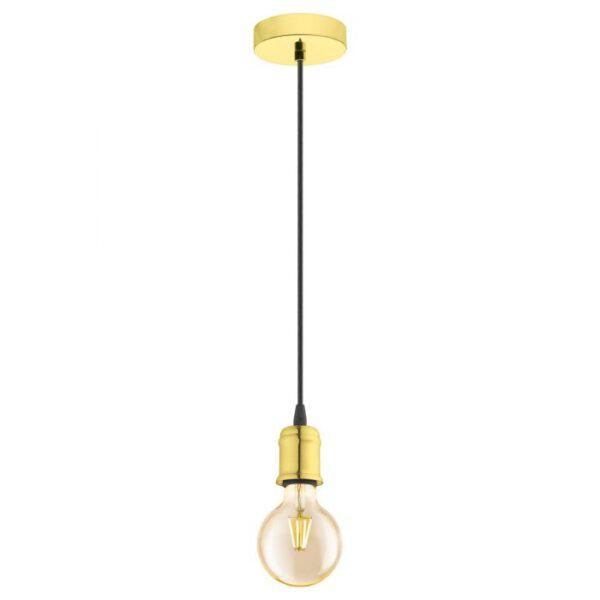 Yorth hanglamp uit de hanglampen collectie van Eglo, verlichting voor een sfeervol thuis! Schitterende lamp vervaardigd uit metaal, geelkoper van kleur en passend bij vele interieurstijlen. De hanglamp is voorzien van een E27 fitting. Hanglamp Yorth wordt geleverd exclusief lichtbron(nen).