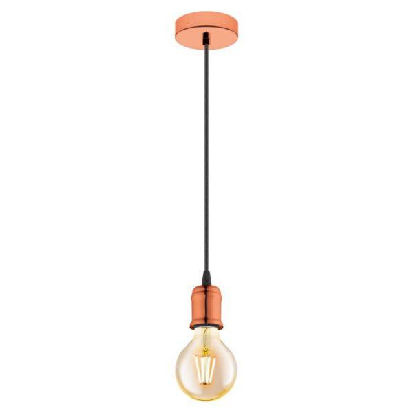 Yorth hanglamp uit de hanglampen collectie van Eglo, verlichting voor een sfeervol thuis! Schitterende lamp vervaardigd uit metaal, koper van kleur en passend bij vele interieurstijlen. De hanglamp is voorzien van een E27 fitting. Hanglamp Yorth wordt geleverd exclusief lichtbron(nen).