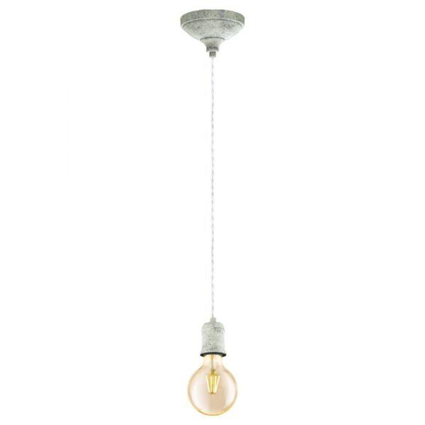 Yorth hanglamp uit de hanglampen collectie van Eglo, verlichting voor een sfeervol thuis! Schitterende lamp vervaardigd uit metaal, wit gekalkt van kleur en passend bij vele interieurstijlen. De hanglamp is voorzien van een E27 fitting. Hanglamp Yorth wordt geleverd exclusief lichtbron(nen).