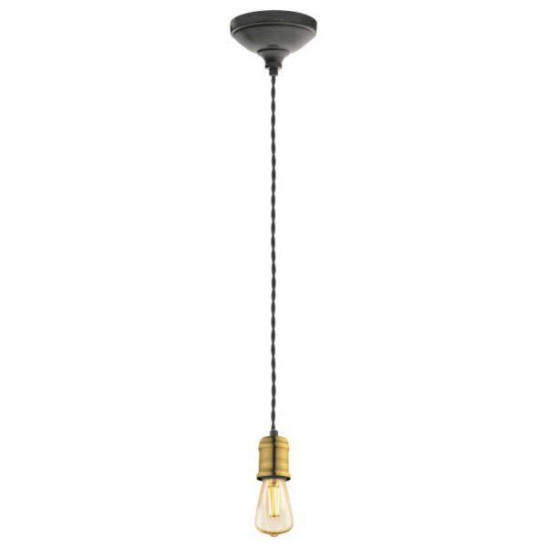 Yorth hanglamp uit de hanglampen collectie van Eglo, verlichting voor een sfeervol thuis! Schitterende lamp vervaardigd uit metaal, zwart-goud van kleur en passend bij vele interieurstijlen. De hanglamp is voorzien van een E27 fitting. Hanglamp Yorth wordt geleverd exclusief lichtbron(nen).