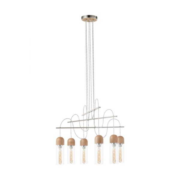 Zacharo 1 hanglamp uit de hanglampen collectie van Eglo, verlichting voor een sfeervol thuis! Schitterende lamp vervaardigd uit metaal, nikkel-mat van kleur en passend bij vele interieurstijlen. De hanglamp is voorzien van een E27-LED-T30 fitting. Hanglamp Zacharo 1 wordt geleverd inclusief lichtbron(nen).