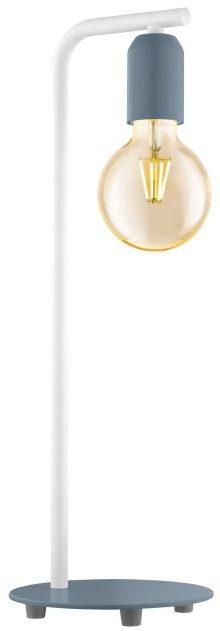 Adri-P tafellamp uit de tafellampen collectie van Eglo, verlichting voor een sfeervol thuis! Schitterende lamp vervaardigd uit metaal, pastel donkerblauw, wit van kleur en passend bij vele interieurstijlen. De tafellamp is voorzien van een E27 fitting. Tafellamp Adri-P wordt geleverd exclusief lichtbron(nen).