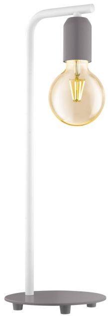 Adri-P tafellamp uit de tafellampen collectie van Eglo, verlichting voor een sfeervol thuis! Schitterende lamp vervaardigd uit metaal, pastel grijs, wit van kleur en passend bij vele interieurstijlen. De tafellamp is voorzien van een E27 fitting. Tafellamp Adri-P wordt geleverd exclusief lichtbron(nen).