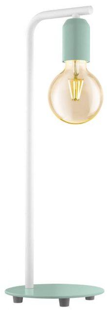 Adri-P tafellamp uit de tafellampen collectie van Eglo, verlichting voor een sfeervol thuis! Schitterende lamp vervaardigd uit metaal, pastel lichtgroen, wit van kleur en passend bij vele interieurstijlen. De tafellamp is voorzien van een E27 fitting. Tafellamp Adri-P wordt geleverd exclusief lichtbron(nen).