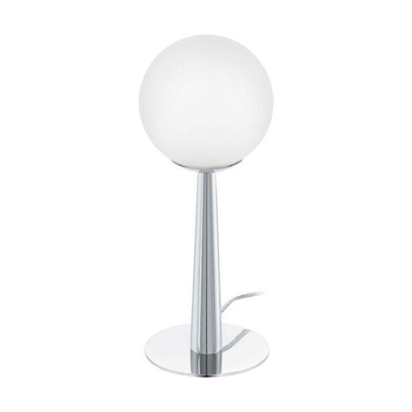 Buccino 1 tafellamp uit de tafellampen collectie van Eglo, verlichting voor een sfeervol thuis! Schitterende lamp vervaardigd uit metaal, chroom van kleur en passend bij vele interieurstijlen. De tafellamp is voorzien van een G9-LED fitting. Tafellamp Buccino 1 wordt geleverd inclusief lichtbron(nen).